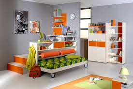 nice grey color wall themes kids bedroom design with white finish wooden single bed which has bedroomstunning breathtaking wooden desk chair wheels