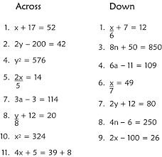 Algebra 1 Solve Equations - Worksheets for Kids, Teachers & Free ...Math Algebra 1 Equations