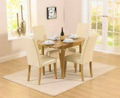 cream compact extending dining table: buy the oxford cm solid oak extending dining table with albany cream chairs at oak furniture