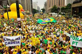 Resultado de imagem para mobilização contra a corrupção no brasil