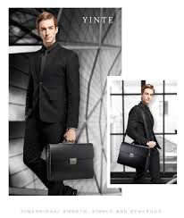 Aliexpress.com : Buy <b>YINTE Leather Men's</b> Briefcase Leather ...