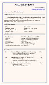 resume blog co  resume sample  sap abap fresherdownload resume format in word doc