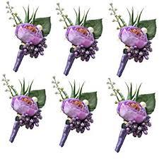 6 Pieces/lot Groom Boutonniere Man Buttonholes ... - Amazon.com