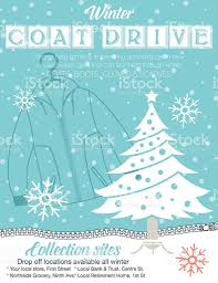 winter coat drive charity poster template stock vector art winter coat drive charity poster template royalty stock vector art