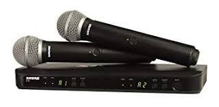 Shure BLX288/PG58 <b>Dual</b> Channel <b>Wireless</b> Handheld <b>Microphone</b>