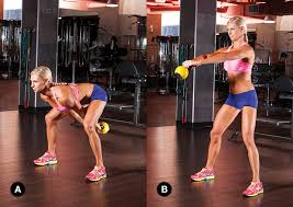 Image result for woman kettlebell swing workout