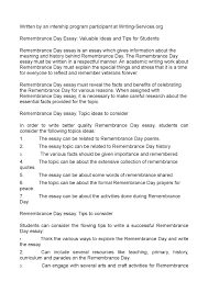 p jpg calamatilde131acirccopyo remembrance day essay valuable ideas and tips for students