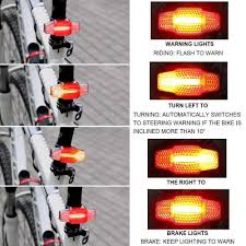 HangRui Bike Tail Light, <b>Smart Steering Brake</b> Bike Light, USB ...