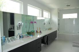 dual vanity bathroom: black and white modern double vanity bathroom