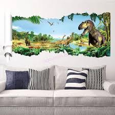 <b>3D</b> Effect Jurassic World <b>Dinosaur</b> Vinyl Wall <b>Decals Sticker</b> Kids ...