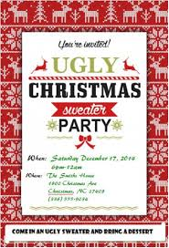 ugly sweater christmas party invitations net ugly christmas sweater party invitations s custom party invitations