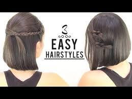 EASY HAIRSTYLES FOR SHORT <b>HAIR</b> - YouTube