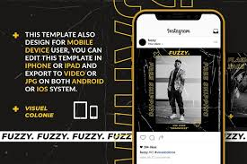 <b>FUZZY</b> - <b>Animated</b> Instagram Template | Instagram template, Poster ...