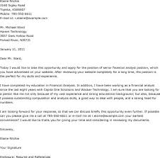 cover letter examples for financial analyst financial cover letter examples