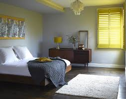 yellow and gray bedroom: tantalizing concept of yellow and gray bedroom with window curtain