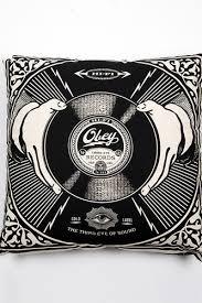 <b>Подушка OBEY</b> Third Eye Records <b>Pillow</b> (Black) | www.gt-a.ru