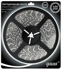 312000305 <b>Лента</b> Gauss <b>LED 2835/60</b>-<b>SMD 4.8W</b> 12V DC ...