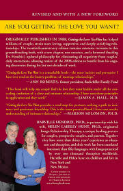 getting the love you want a guide for couples th anniversary getting the love you want a guide for couples 20th anniversary edition harville hendrix ph d 9780805087000 com books
