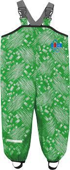 <b>Полукомбинезон детский</b>, <b>непромокаемый</b>, цвет зеленый принт ...