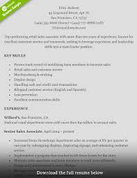 how to write a perfect retail resume examples included retail resume erica