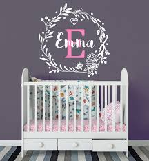 <b>YOYOYU Wall Decal Personalized</b> Custom Name Monogram First ...