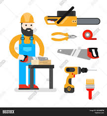 onstruction worker saw man sawing a board woodworcker or 1057onstruction worker saw man sawing a board woodworcker or joiner good builder