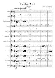 symphony no st movement musescore
