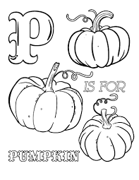 Small Picture Printable P is for pumpkin coloring page Free PDF download at