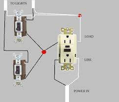 how to wire a gfci outlet to a light switch the wiring diagram gfci outlet switch wiring diagram digitalweb wiring diagram