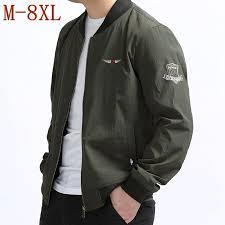 <b>Plus Size 10XL 9XL</b> 8XL 6XL Spring Men's Jackets Solid Fashion ...