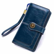 Long <b>Leather</b> Female Clutch Purse Cellphone Bag Coin Wallet Lady ...
