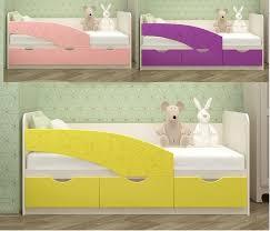 """<b>Кровать</b> детская """"<b>Бабочки</b>"""" -1,6 м (<b>МИФ</b>): продажа, цена в ..."""