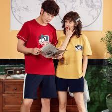 big size -3xl couple pajamas summer fashion pyjamas women ...