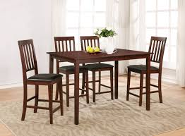 Kitchen Set Table And Chairs Essential Home Cayman 5 Piece Dark Finish Dining Set Kmart