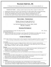 nurse resume graduate nurse resume