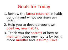 It     s Not About Willpower  Make It a Habit  by Caren Baruch Feldman