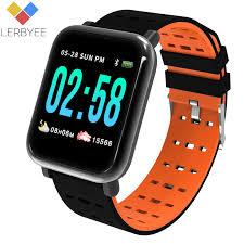 Lerbyee <b>A6 Smart Watch Heart</b> Rate Monitor Sport Fitness Tracker ...