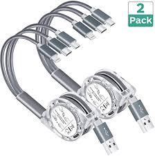 Arsiperd Multi <b>USB Retractable</b> Charging <b>Cable</b>, 4FT <b>3</b> in <b>1</b> Multiple ...