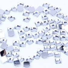 Acrylic Rhinestones Square Earth Facets Crystal <b>Color</b> 4mm 5mm ...
