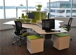 grey ceramic flooring tiles in beautiful office desk glass