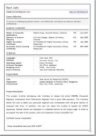 mcafresherresumeformat fresher resume format for mca