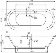 акриловая ванна BB21-BRN/ORO Belbagno