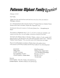 printable example of family reunion program patterson oliphant printable example of family reunion program patterson oliphant family reunion