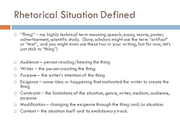 on rhetoric review of rhetoric and its situations   ppt download rhetorical situation defined  thing  my highly technical term meaning speech essay