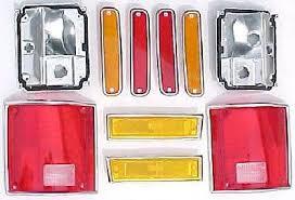 tail light tail lamp lens w chrome bezel trim pair set for 73 91 81 91 chevy 10pc dually light kit gmc front fender dually fender