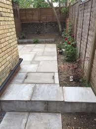 working creating patio: image image image
