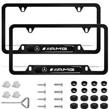 2-Pieces Newest Matte <b>Aluminum Alloy</b> License Plate <b>Frame for</b> ...