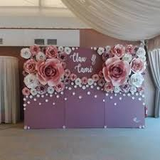 Details about <b>1Pcs 30cm 40cm Paper</b> Flower Backdrop Wall 2 ...
