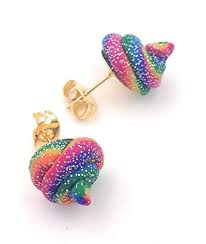Unicorn Poop Stud Earrings Rainbow Glitter Sparkle ... - Amazon.com
