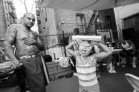 echoes of the mexican mafia in the bronx narratively rene hangs out while his eldest daughter plays in his backyard most of the younger